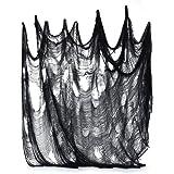 JOYSEAS Black Creepy Cloth,Scary Halloween Decorations,8.3 Yards X 79'' Creepy Cloth for Halloween Decorations Ideal for Haunted House Decorations