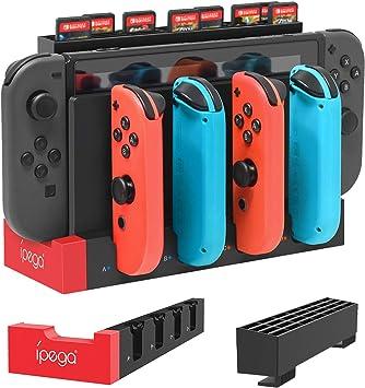 Base de carga FYOUNG para Nintendo Switch Joy-Cons con funda de ...
