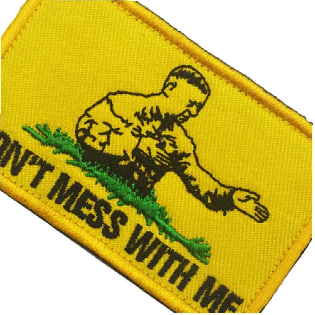 Placa T/áctica No Ensucie Conmigo Gancho Y Bucle Moral Parche Bordado Insignia Militar para El Aire Libre Amarillo