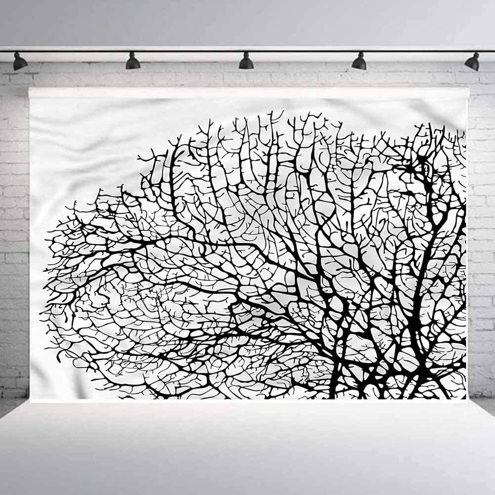 6x6FT Vinyl Photography Backdrop,Nature,Twisted Coral Reef Branches Photoshoot Props Photo Background Studio Prop