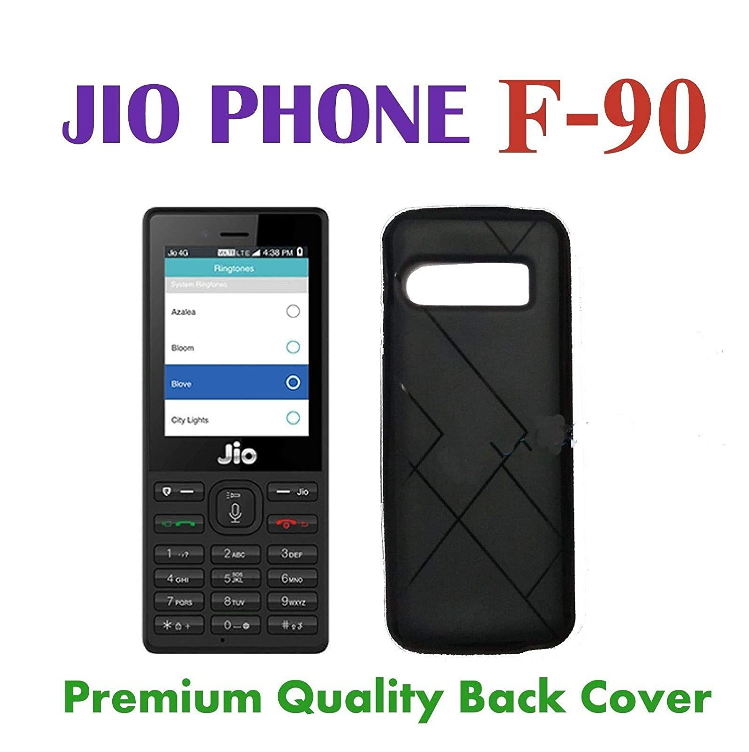 new style 738f7 6ee4b FAROOQUI A IT SOLUTIONS Back Cover for Jio phone F90M(Black)