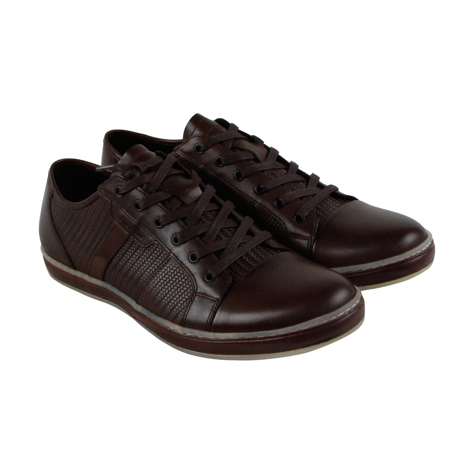 Kenneth Cole New York Brand Wagon 2 Mens Brown Leather Sneakers Shoes 9.5