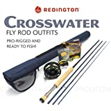 "Redington Crosswater 890-4 Fly Rod Outfit (9'0"", 8wt, 4pc)"
