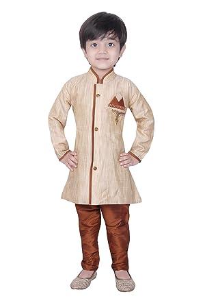 0d89a0000 Baby Kurta Pyjama Sherwani Suit Indian Wedding Boy Bollywood Indo Western  Party Wear Ethnic Dress (BW-9988-BLK-00): Amazon.co.uk: Clothing