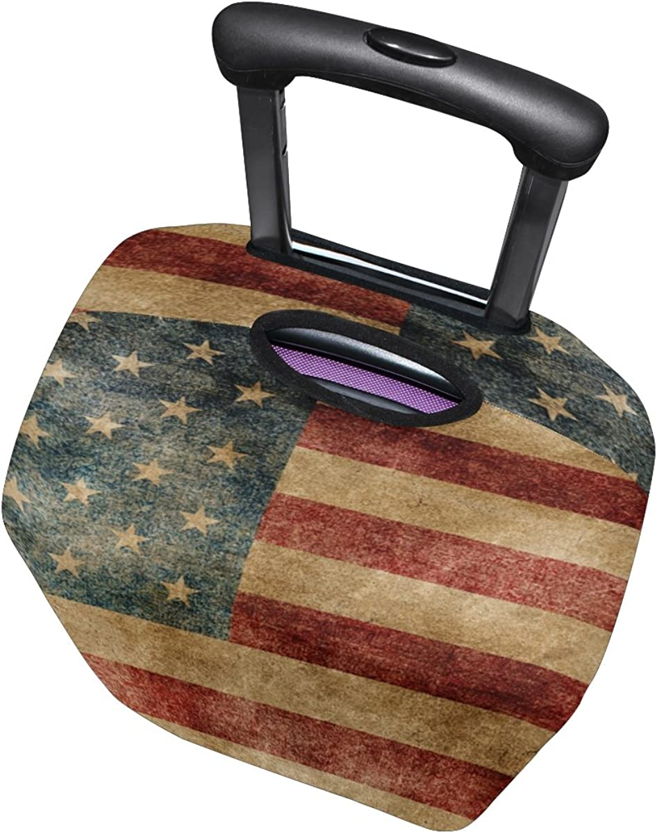 LAVOVO American Flag Luggage Cover Suitcase Protector Carry On Covers