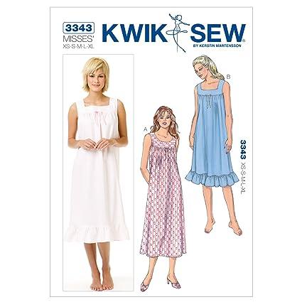 Amazon Kwik Sew K3343 Nightgowns Sewing Pattern Size Xs S M L