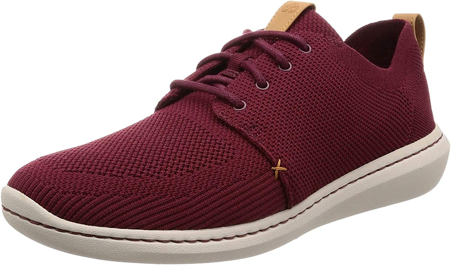 Clarks Step Urban Mix, Sneakers Basses Homme Rouge Burgundy