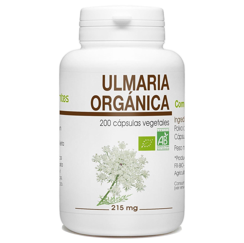 Ulmaria Orgánica - Filipendula ulmaria - 215mg - 200 cápsulas vegetales