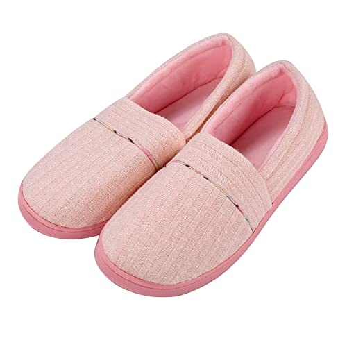 cd5dd8750 77Fine Pink House Slipper,Non Slip Foam Cute Lady Comfy Cozy Warm Bedroom  Slippers for