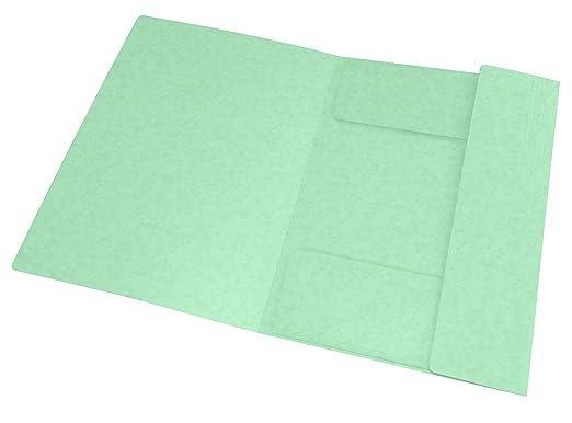 color verde Oxford TopFile+ A4, cierre el/ástico, 50 unidades Carpetas de cart/ón con 3 solapas