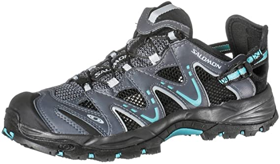 Salomon Riverside 39 13 Damen Trekking Schuhe Sandalen grey azure