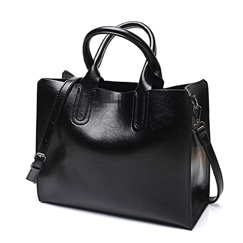 Women's Bags Leather Handbags For Women High Quality Casual Shoulder Bag Trunk Tote Messenger Crossbody Solid Color Large Bolsos