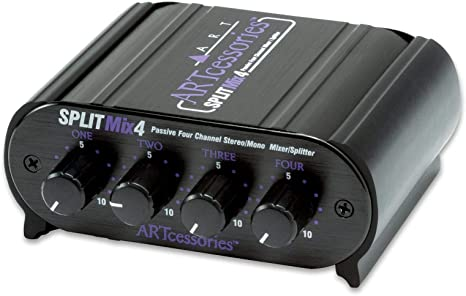 Art SPLITMix4 - Mezclador y divisor pasivo estéreo/mono de cuatro ...