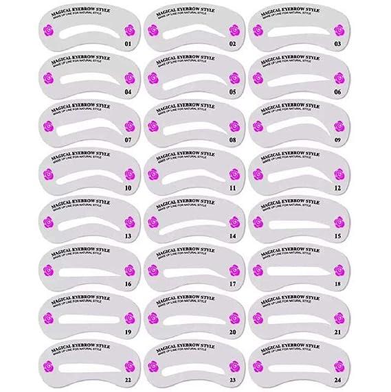 Sannysis 24 Estilos formar de ceja herramienta de maquillaje para pestañas y cejas: Amazon.es: Ropa y accesorios