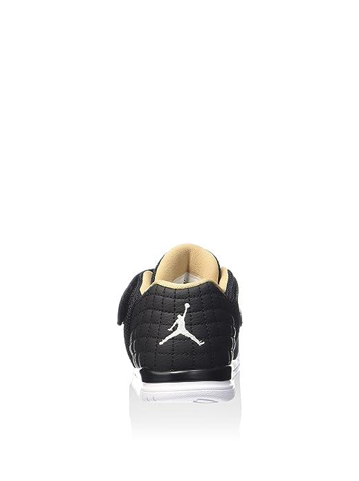 Nike Jordan Academy BT, Zapatos de Primeros Pasos para Bebés, Negro (Black/White-Cool Grey-Vachetta Tan), 26