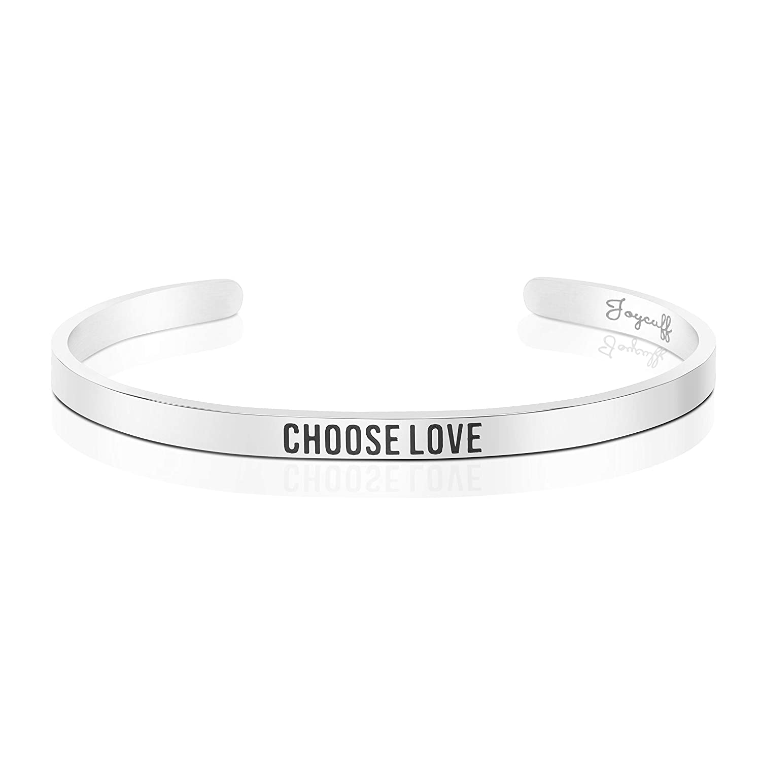 Amazon Joycuff Choose Love Bracelet Birthday Gifts Her Best Friend Jewelry Inspirational Religious Mantra Cuff Bangle