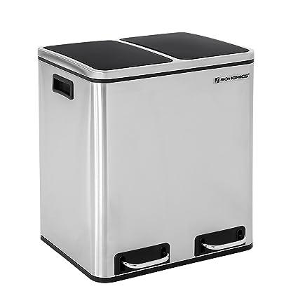 SONGMICS Basurero Reciclaje Cubo de Basura Cubo de Cocina de ...