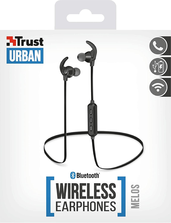 Trust Urban Melos - Auriculares inalámbricos Bluetooth, para Smartphone y Tableta, Negro: Amazon.es: Electrónica