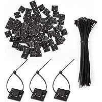 LUTER 100 delar buntband självhäftande fästen självhäftande kabeltråd buntskruv hål ankare bashållare med 100 delar…