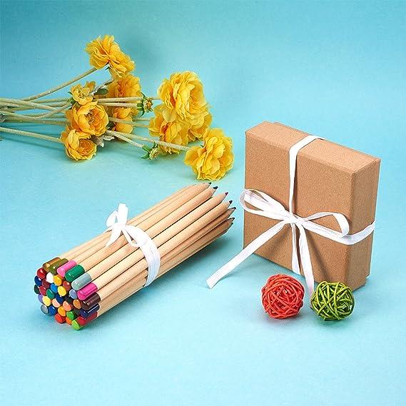 NBEADS 2 rollos de 100 yardas de papel de rafia blanco cinta de embalaje para regalos de festivales, decoración DIY y tejido, 1/4 de ancho: Amazon.es: Hogar