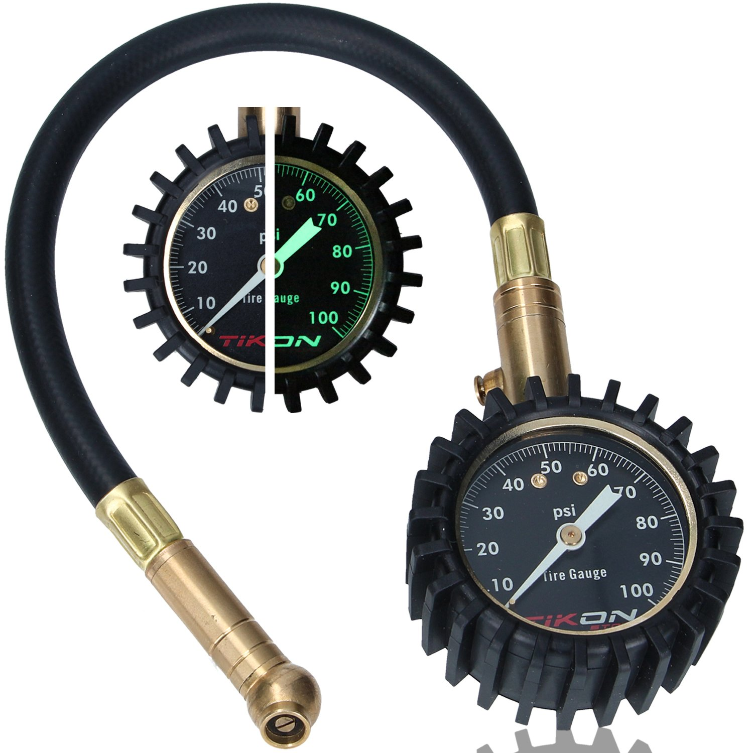 Tire Pressure Gauge (0-100 psi) for Car Auto Motorcycle Truck RV ATV