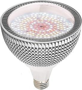 LED Grow Light Bulb, 150W Daylight White Full Spectrum Grow Light for Indoor Plants, 200 LEDs Plant Light Bulb for Seedlings Vegetable , E26/E27 Grow Lamp for Hydroponics, Greenhouse, Organic Soil