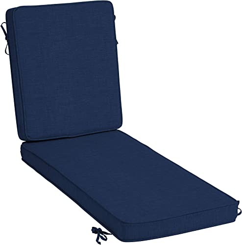 Arden Selections ProFoam Essentials 72 x 21 x 3.5 Inch Outdoor Chaise Lounge Cushion