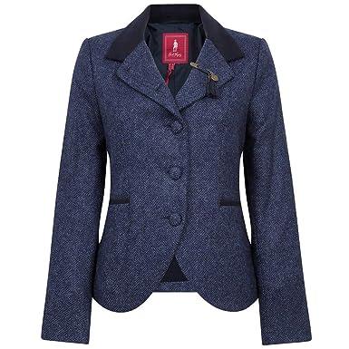 Jack Murphy Womens//Ladies Melody Country Tweed Lightweight Jacket Coat