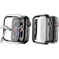 HEYUS [2 Pack] Tempered Glass Screen Case 40mm for Apple Watch Series 6/SE/5/4 , Full Coverage Tempered Glass Screen…