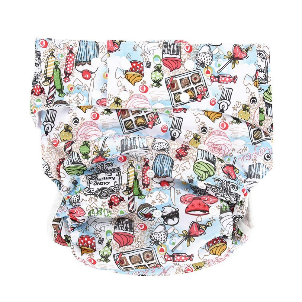 Pa/ñales de Tela Reutilizables Lavable Cloth Diaper Nappy Adecuado para Personas Mayores Ajustable Reutilizable Leakfree
