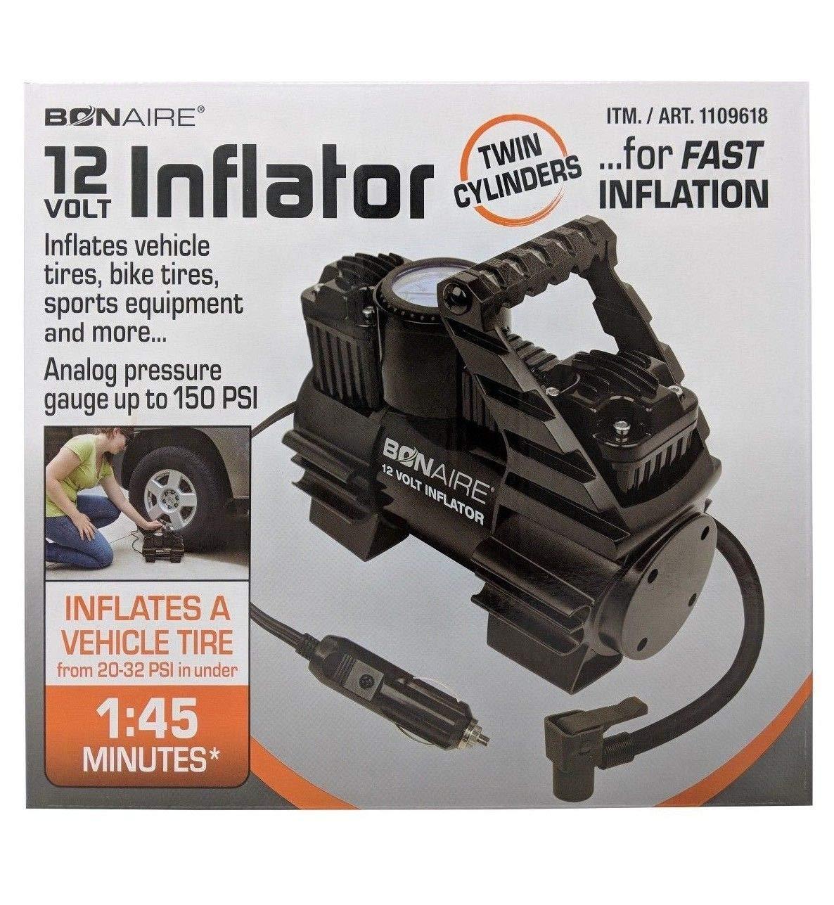 Amazon.com: Bonaire - Inflador de 12 voltios con cilindros ...