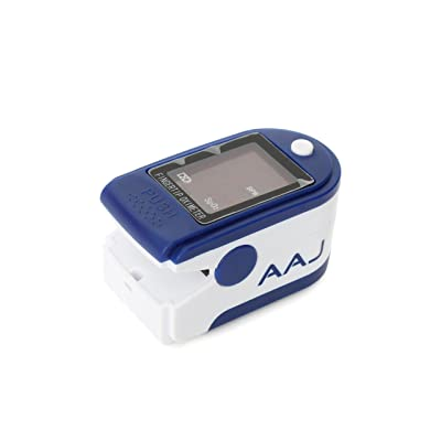 AAJ Oxymètre de pouls avec affichage LED Avec étui de transport 2 piles AAA et sangle