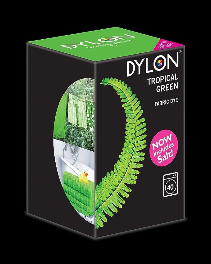 Tinte para lavadora, Dylon, color Tropical Green. 350 g. Incluye sal