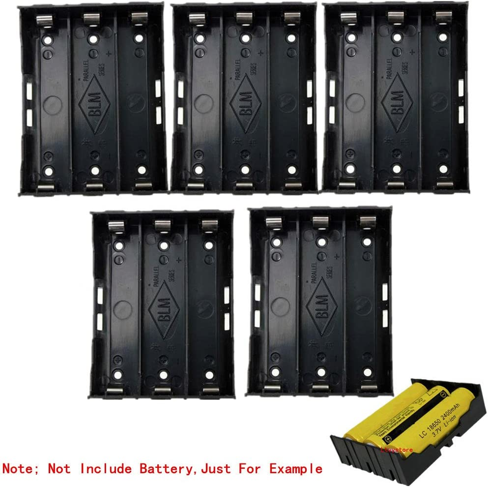 1PCS Plastic Battery Holder Storage Box Case For 3x 18650 Rechargeable Battery K