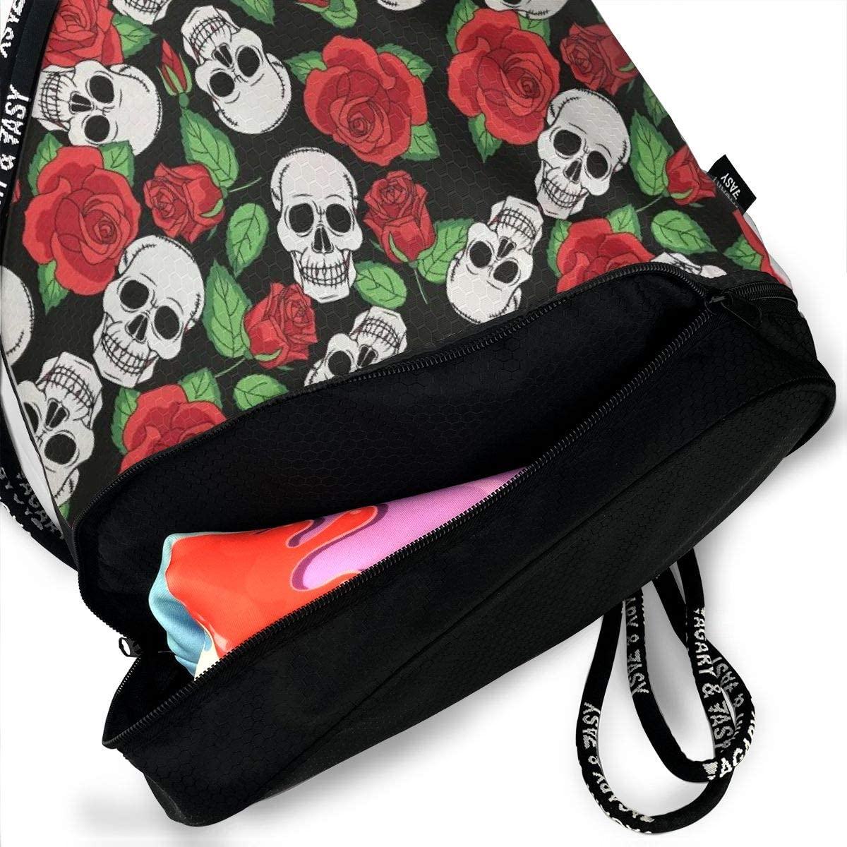 Skulls /& Roses Multifunctional Bundle Backpack Shoulder Bag For Men And Women