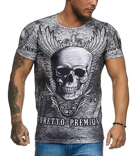 Cabin - T-Shirt Homme tête de Mort T-Shirt 1165 Gris - M - Gris ... 72e2d90fcd95