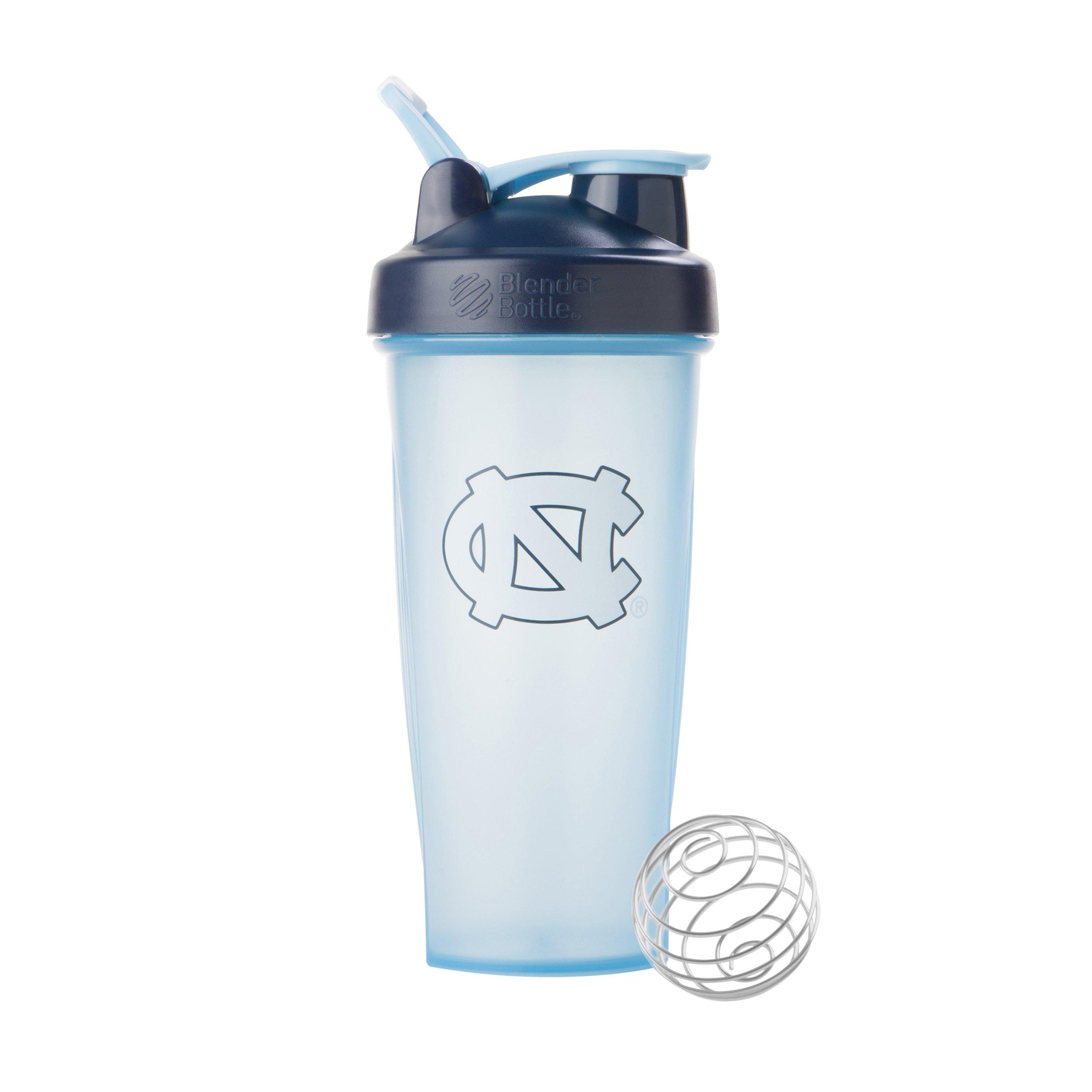 BlenderBottle Collegiate Classic 28-Ounce Shaker Bottle, University of North Carolina Tar Heels - Light Blue/Dark Blue