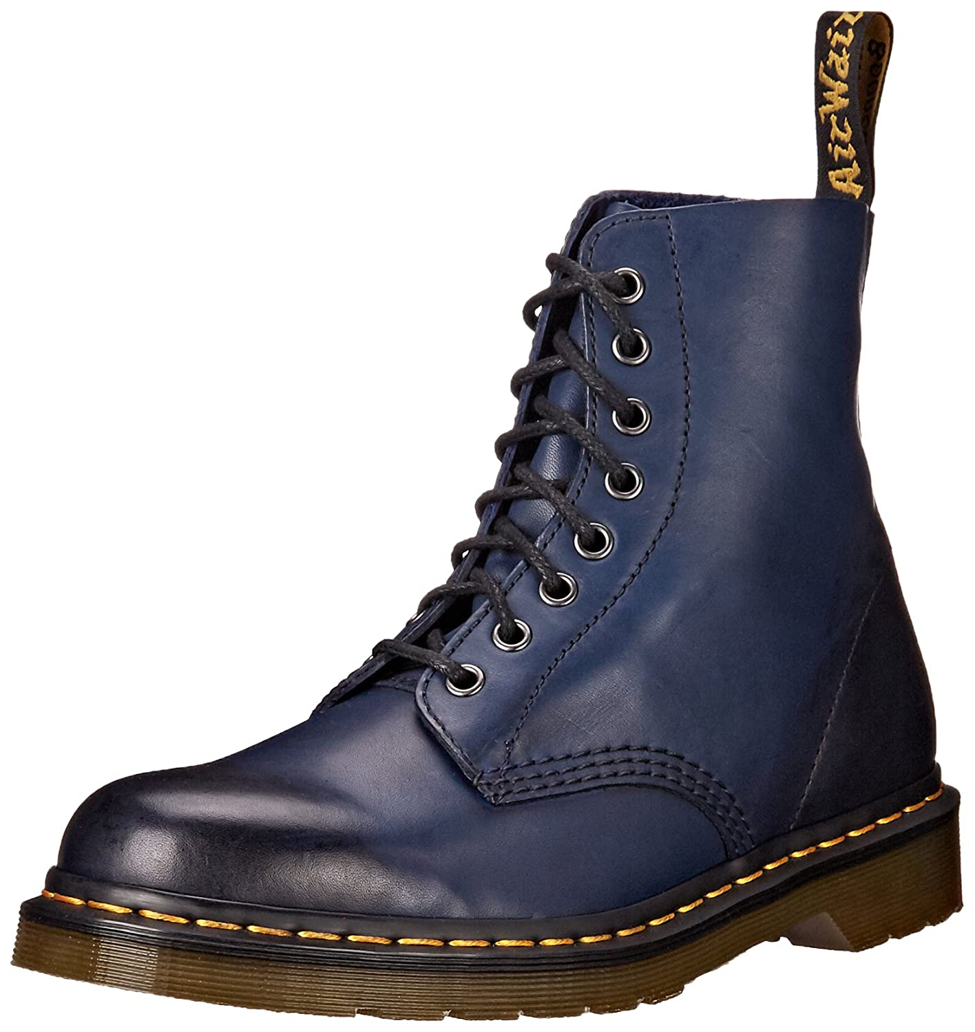 Dr. Martens Women's Pascal Leather Combat Boot B012QDGX0E 4 UK/6 M US|Navy