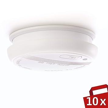 DETECTOR DE HUMO Sicuro | 10 x Alarma de incendio de 4smile | Detector de humo para ...