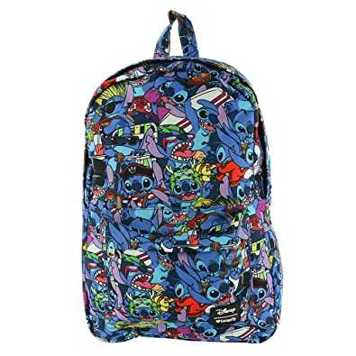 c76a9f044c8 Amazon.com  Loungefly x Disney Lilo and Stitch Costume All Over Print  Backpack   Shoes