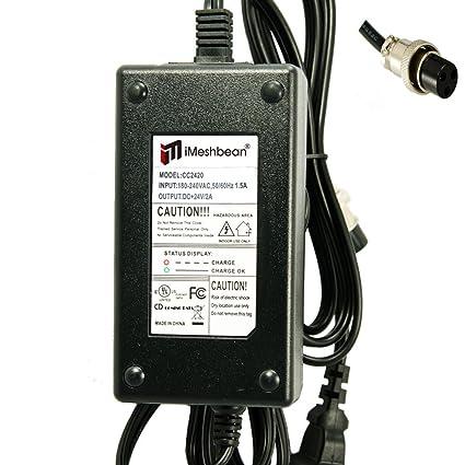 iMeshbean® 24 V 2.0 A AC Cargador de pared Adaptador de ...