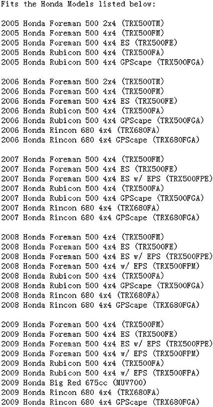 STONEDER Filtro de aire para Honda Rincon 680 500 ...