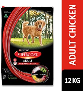 Supercoat Adult Dog Food, Chicken, 12kg