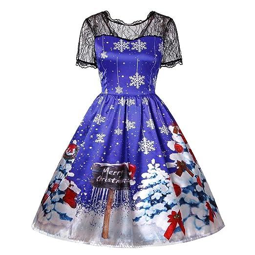8868fb0e2db2 Amazon.com: WUAI Christmas Dress, Womens Christmas Tree Printed ...