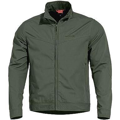 Pentagon Mens Nostalgia Jacket Ripstop Camo Green Size XS