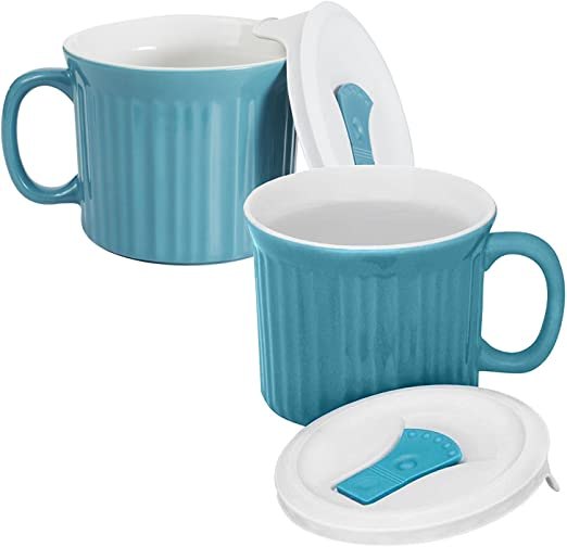 Amazon.com: Taza para sopa CorningWare con tapa apta para ...