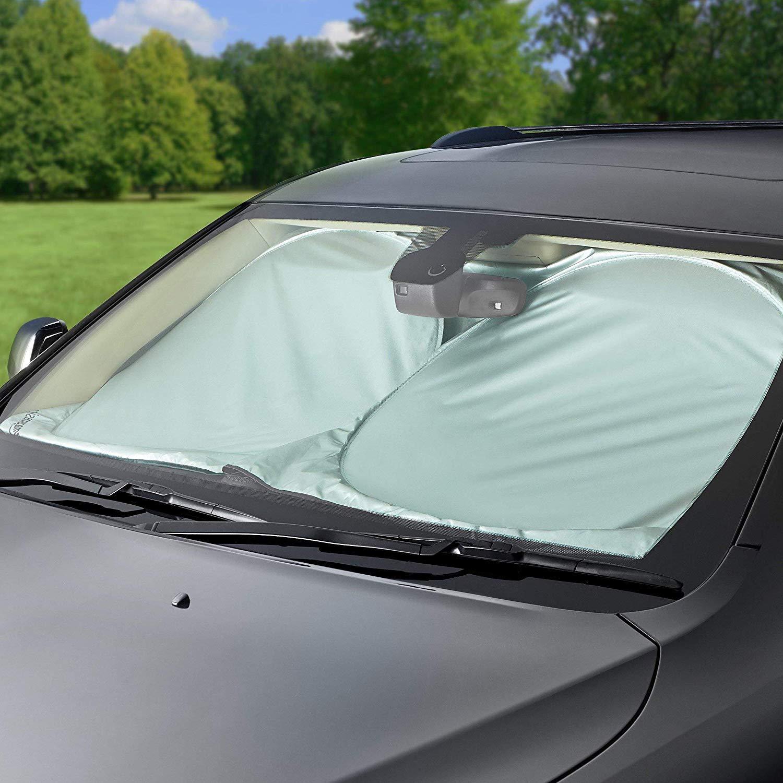 TwinkBling Front Windshield Sunshade Visor Foldable Cartoon Car Windscreen Frost Snow Cover Blue