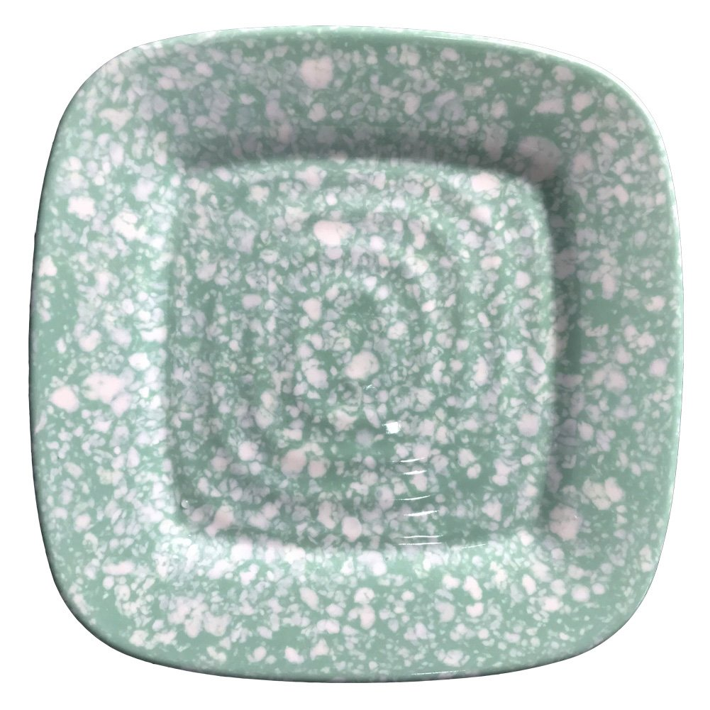 Hware Melamine Dinnerware,Dinner Plate Set - 10Inch Everyday Use Plates for 4,Green by Hware