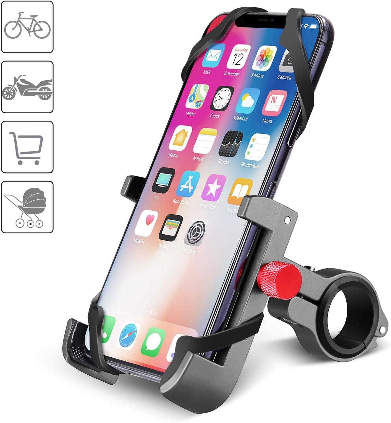 360° Fahrrad Handyhalter Motorrad Handy Halterung Telefonhalterung Rot
