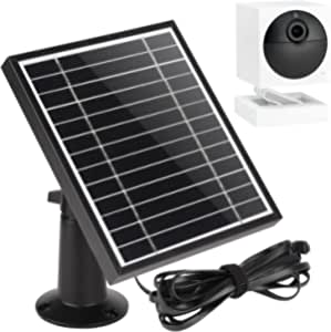 UYODM Solar Panel for Wyze Cam Outdoor   Weather Resistant, 16.5Ft Outdoor Power Charging Cable, Adjustable Mount   Not for Wyze/Wyze v3 - Black